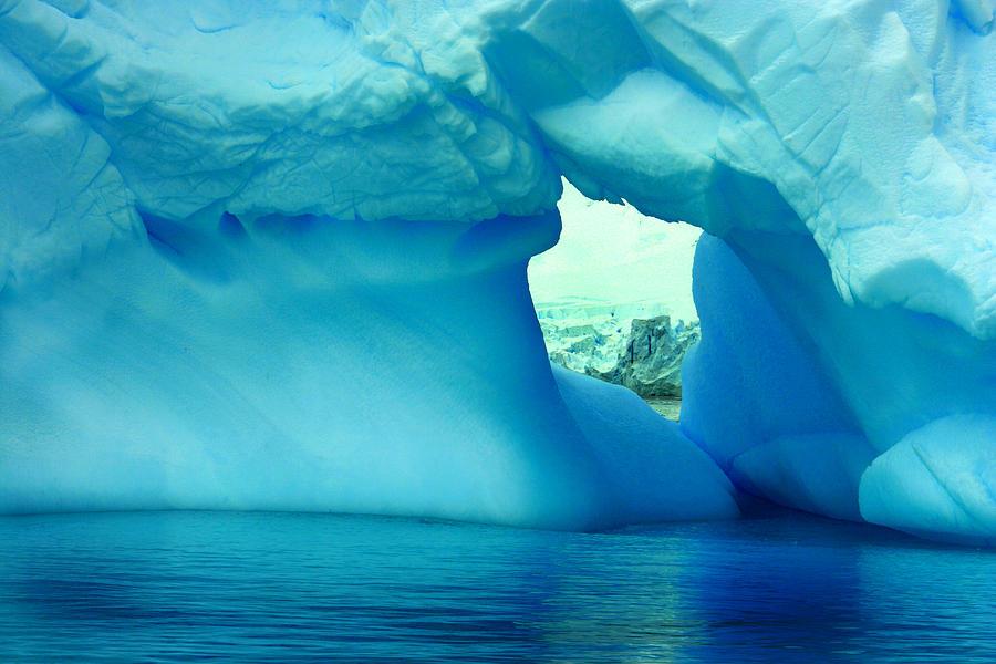 Icebergs Photograph - Blue Iceberg Antarctica by Amanda Stadther