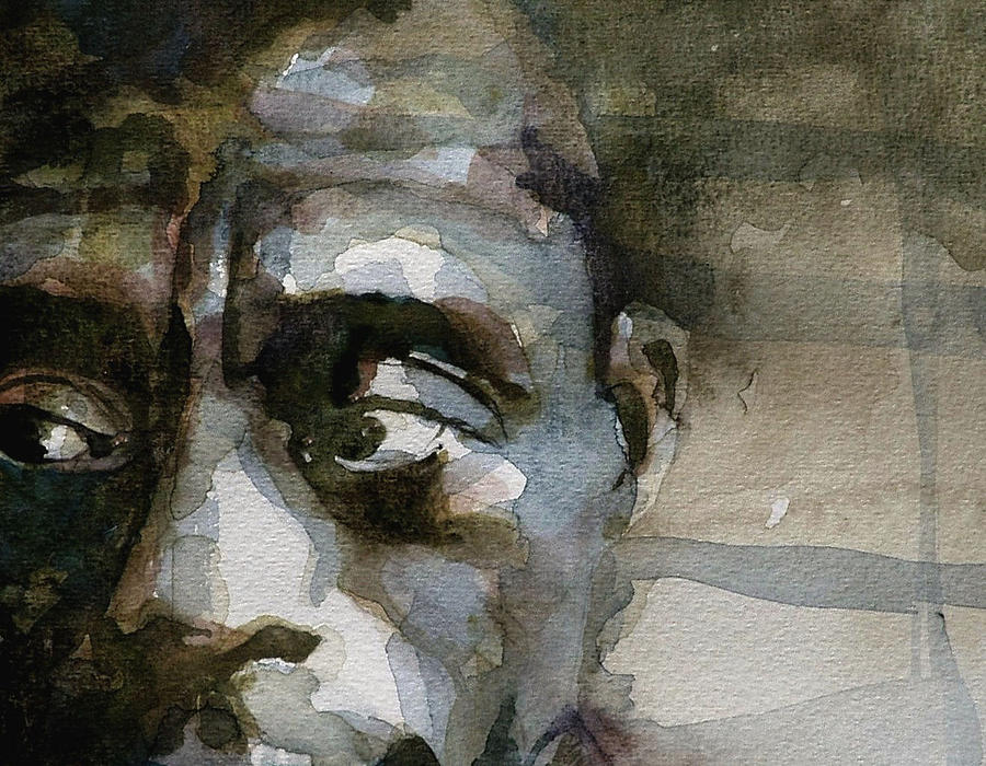 Miles Davis Painting - Blue In Green  Miles Davis by Paul Lovering