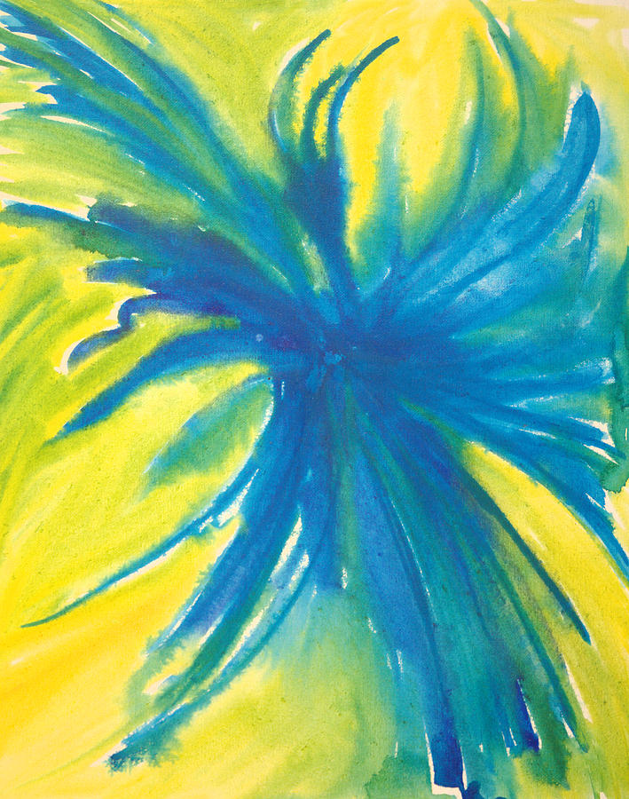 Flower Painting - Blue In The Face by Charles Morford