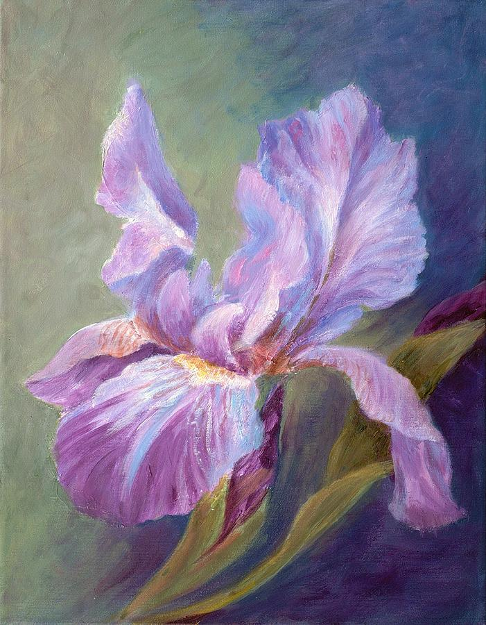 Iris Painting - Blue Indigo Iris by Irene Hurdle