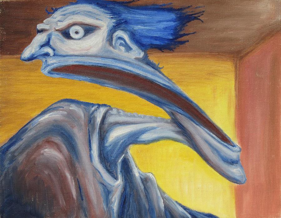 Surreal Painting - Blue - Internal by Jeffrey Oleniacz