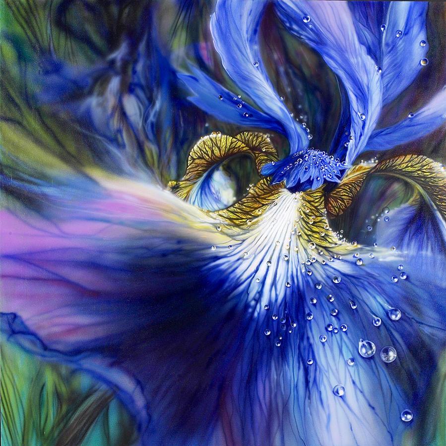 Blue Iris Painting - Blue Iris by Lynette Yencho