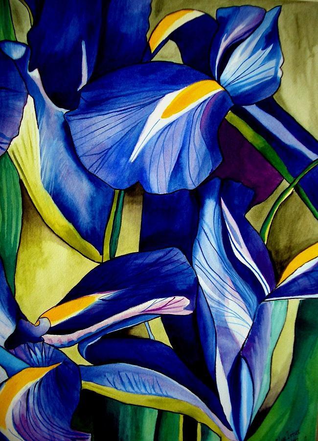 Iris Painting - Blue Iris by Sacha Grossel