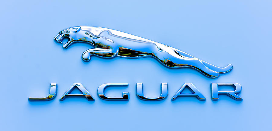 Car Photograph - Blue Jaguar by Ronda Broatch