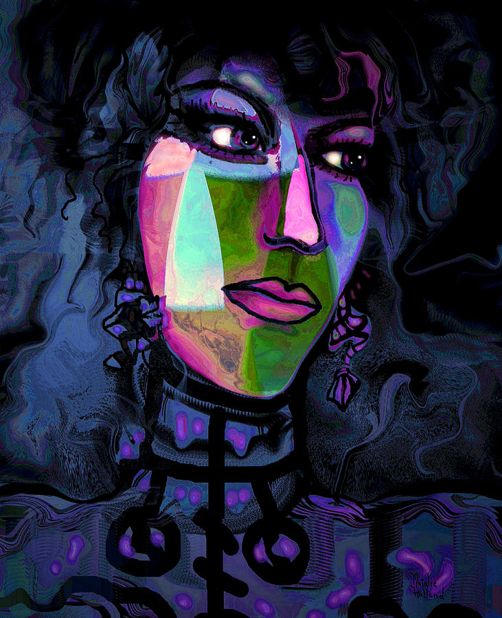 Woman Mixed Media - Blue Lady by Natalie Holland