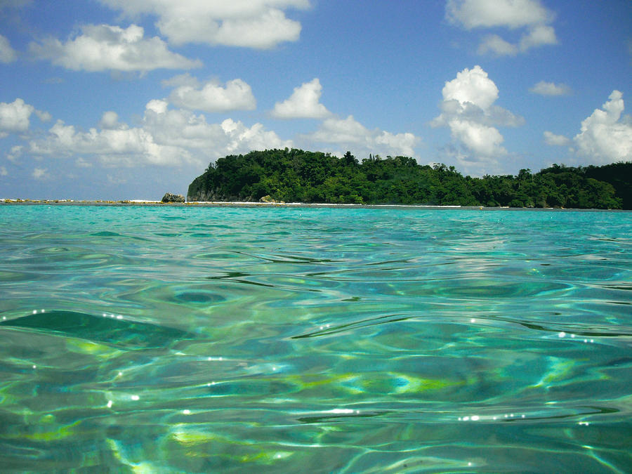 Ocean Photograph - Blue Lagoon by Carey Chen
