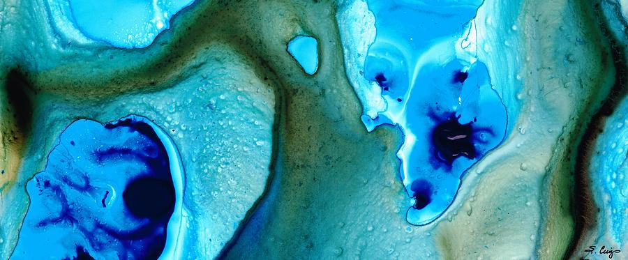 Blue Painting - Blue Lagoon by Sharon Cummings
