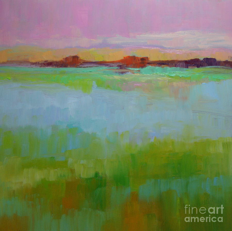 Oil Painting - Blue Lagoon by Virginia Dauth