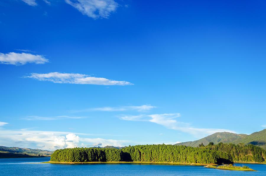 Lake Photograph - Blue Lake And Green Hills by Jess Kraft