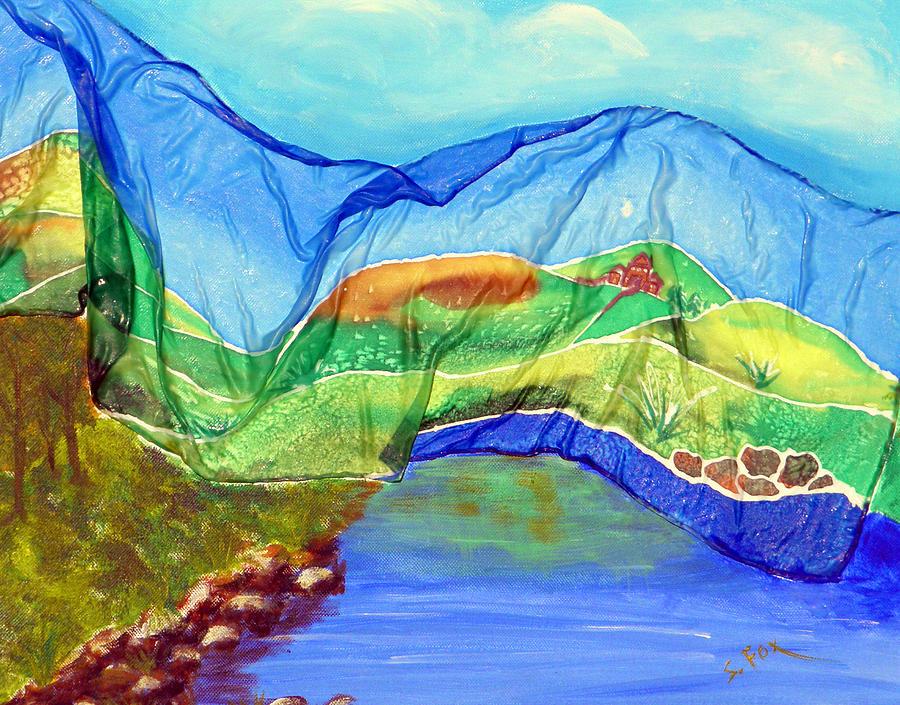 Blue Lake Silk by Sandra Fox
