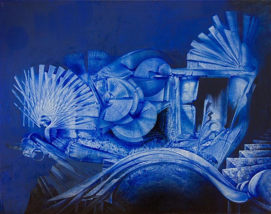 Abstract Photograph - Blue Landscape by Fernando Alvarez