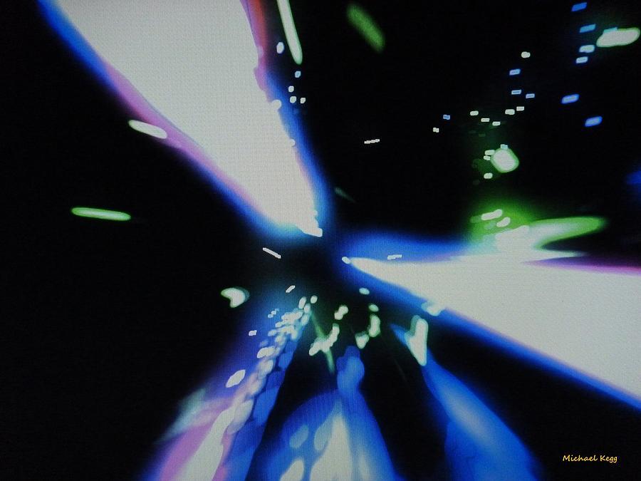 Blue Laser Mixed Media - Blue Laser by Michael Kegg