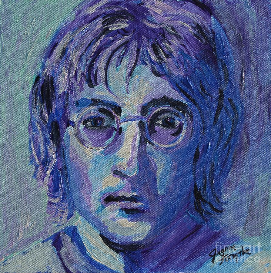 John Lennon Painting - Blue Lennon by Jeanne Forsythe