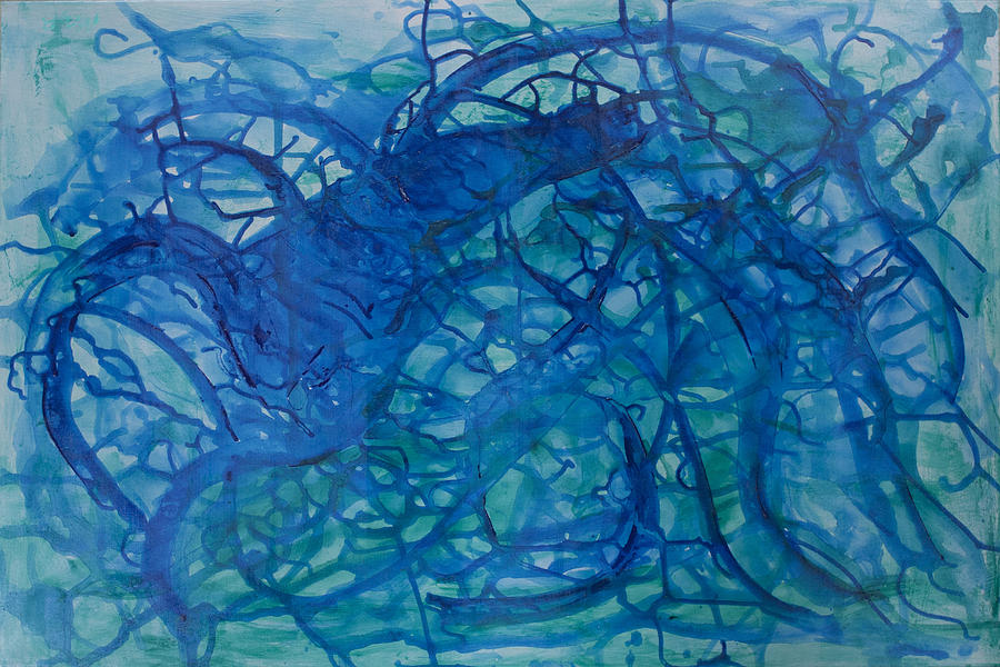 Blue Painting - Blue Life by Molly Benson