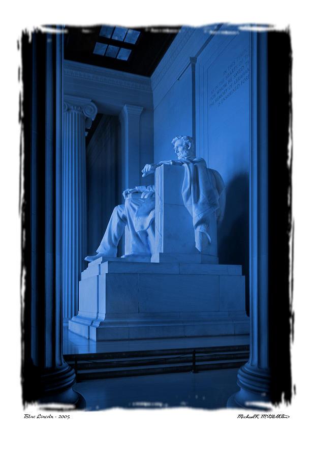 Landmarks Photograph - Blue Lincoln by Mike McGlothlen