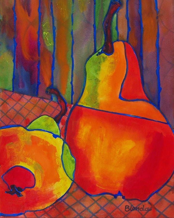 Art Painting - Blue Line Pears by Blenda Studio