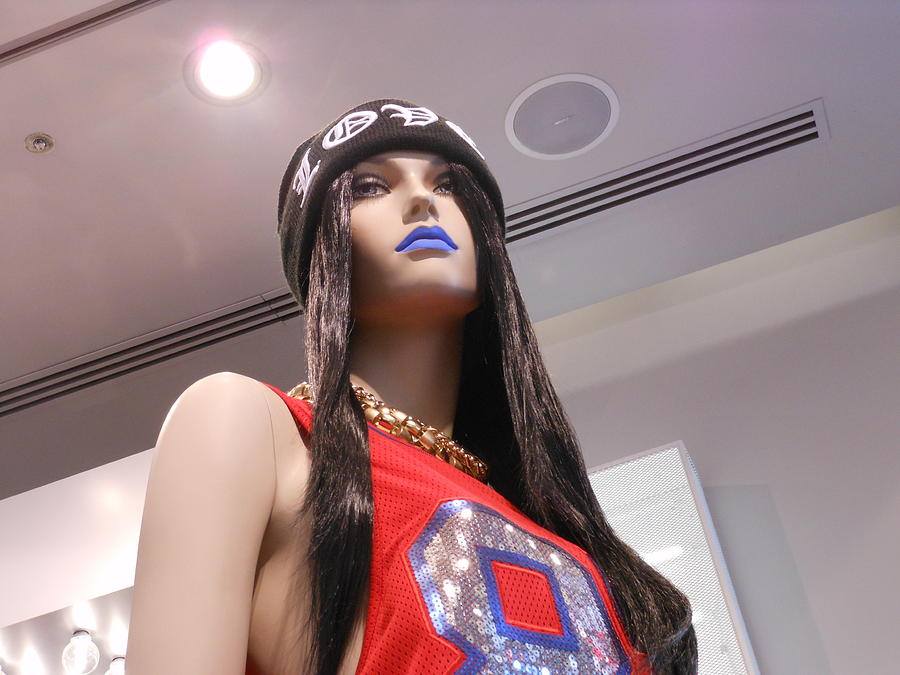 Mannequin Photograph - Blue Lips by Kay Gilley