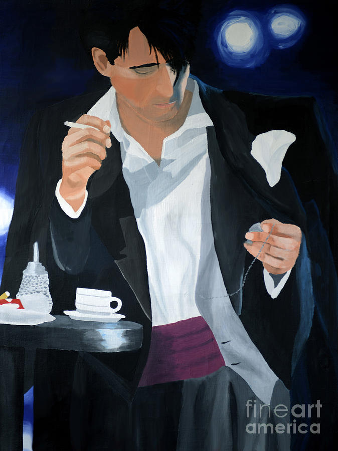 Tala Painting - Blue Man by Eva-Maria Becker