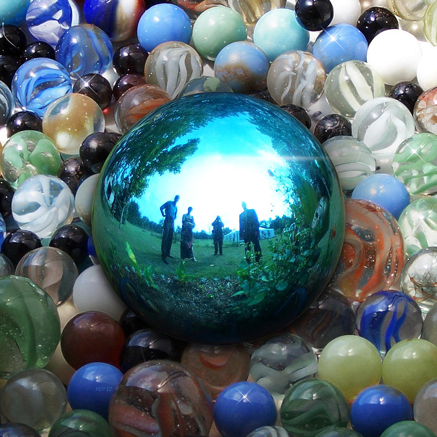 Surreal Photograph - Magic Blue Marble by Phil Perkins