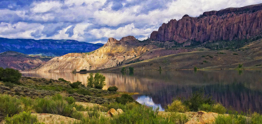 Blue Mesa Reservoir Digital Painting Photograph By