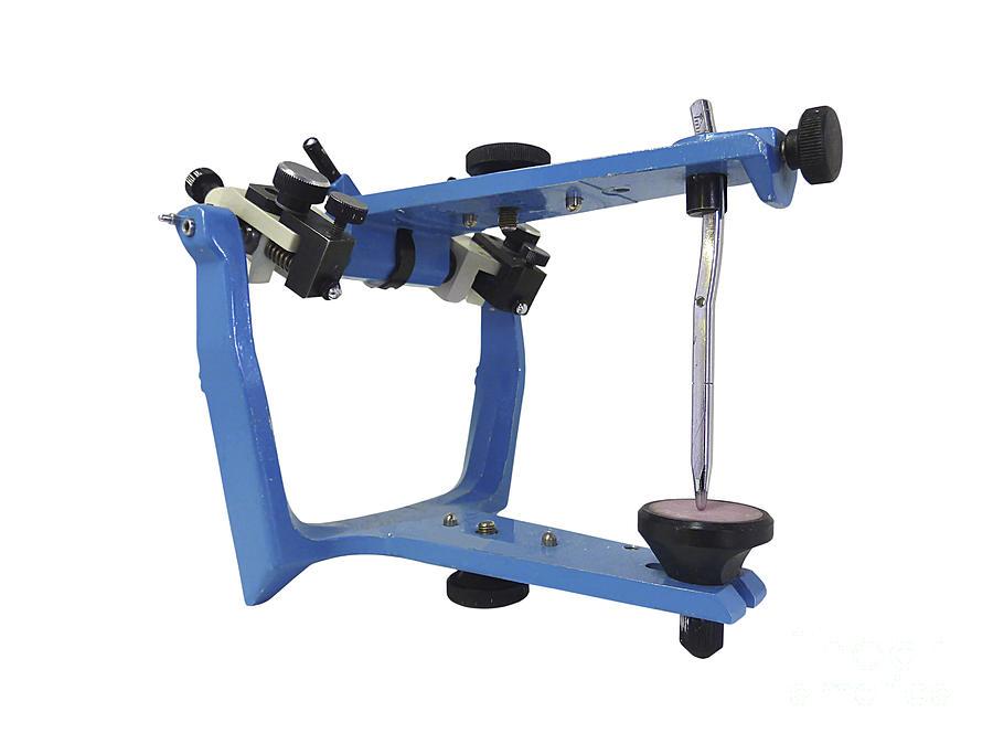 Articulator Photograph - Blue Metallic Articulator Used by Elena Duvernay