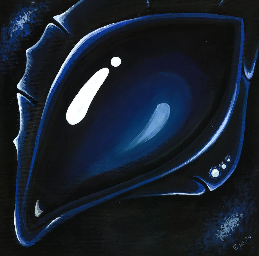 Blue Dragon Painting - Blue Midnight by Elaina  Wagner