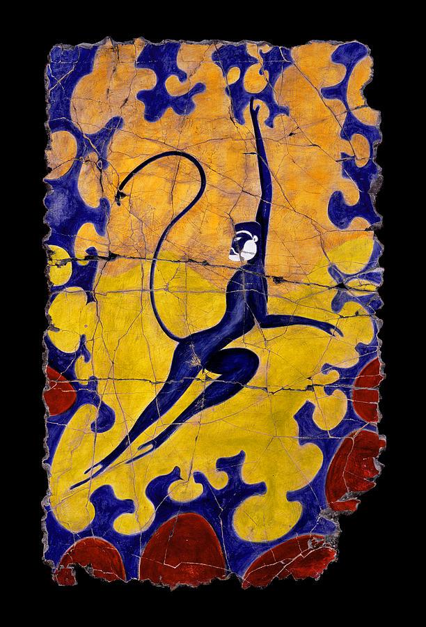 Monkeys Painting - Blue Monkey No. 13 by Steve Bogdanoff