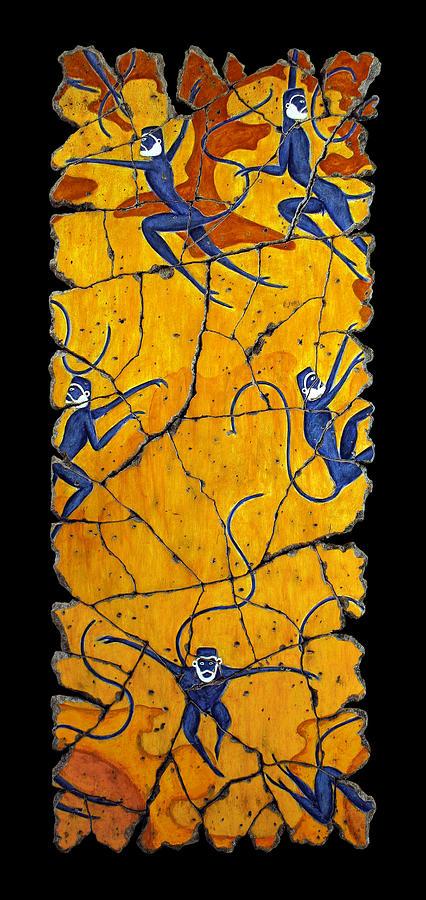 Monkeys Painting - Blue Monkeys No. 41 by Steve Bogdanoff