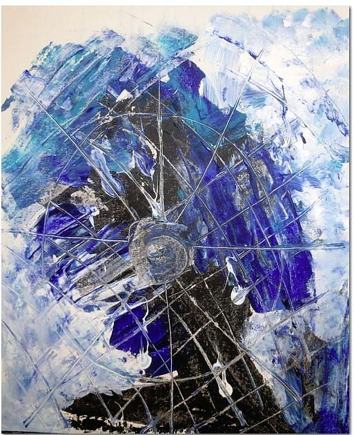 Blue Moon Painting by Ferid Sefer