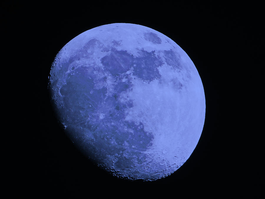 The Moon Photograph - Blue Moon by Tom Gari Gallery-Three-Photography