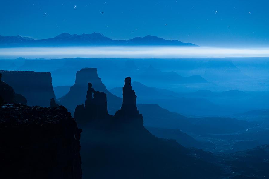 Utah Photograph - Blue Moon Mesa by Dustin  LeFevre