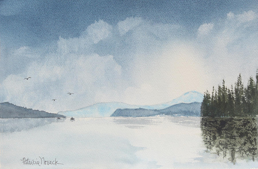 Landscape Painting - Blue Morning by Patricia Novack