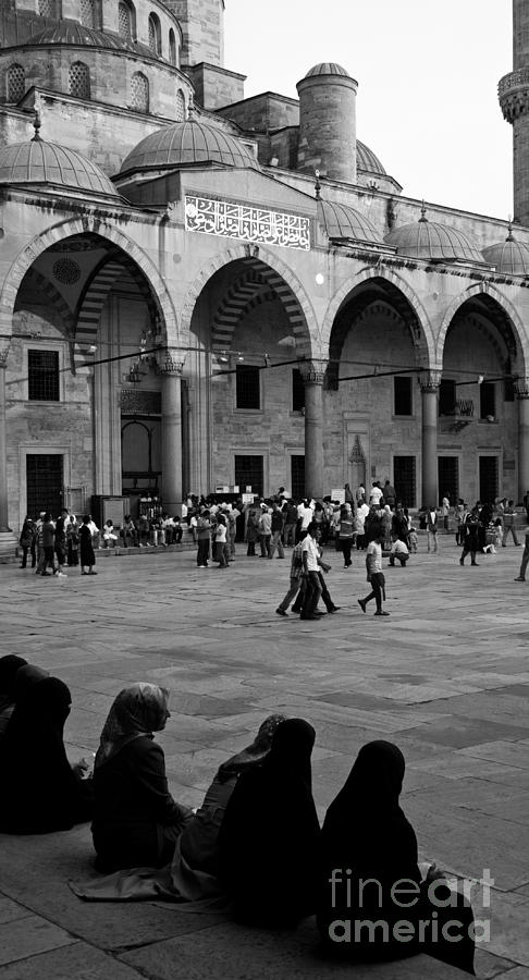 Istanbul Photograph - Blue Mosque Courtyard by Rick Piper Photography