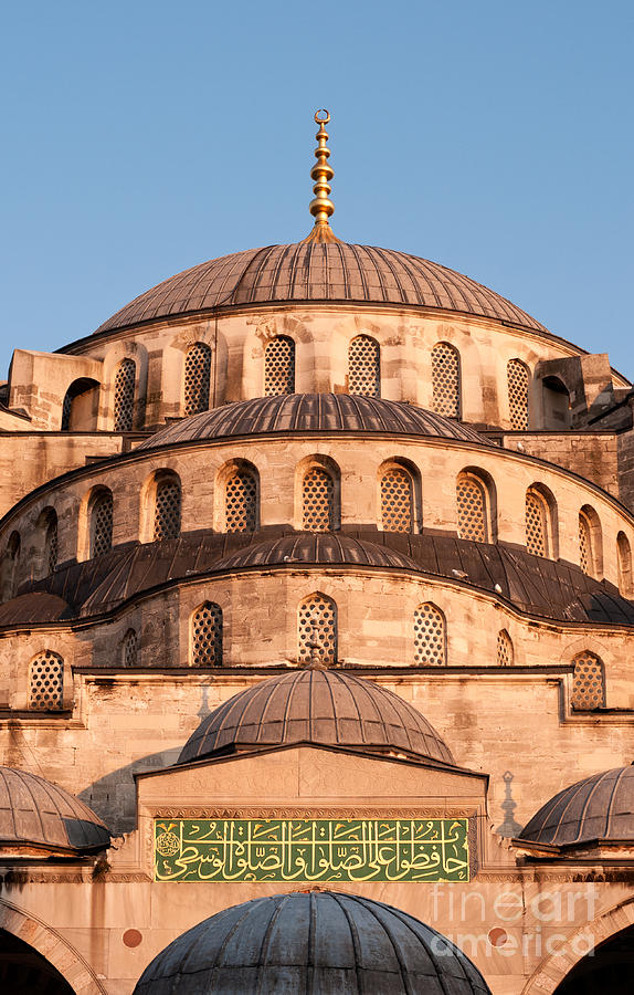 Istanbul Photograph - Blue Mosque Domes 02 by Rick Piper Photography