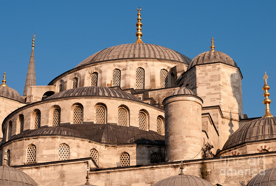 Istanbul Photograph - Blue Mosque Domes 05 by Rick Piper Photography
