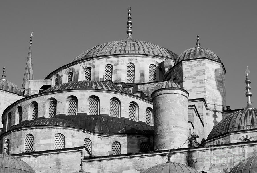 Istanbul Photograph - Blue Mosque Domes 06 by Rick Piper Photography