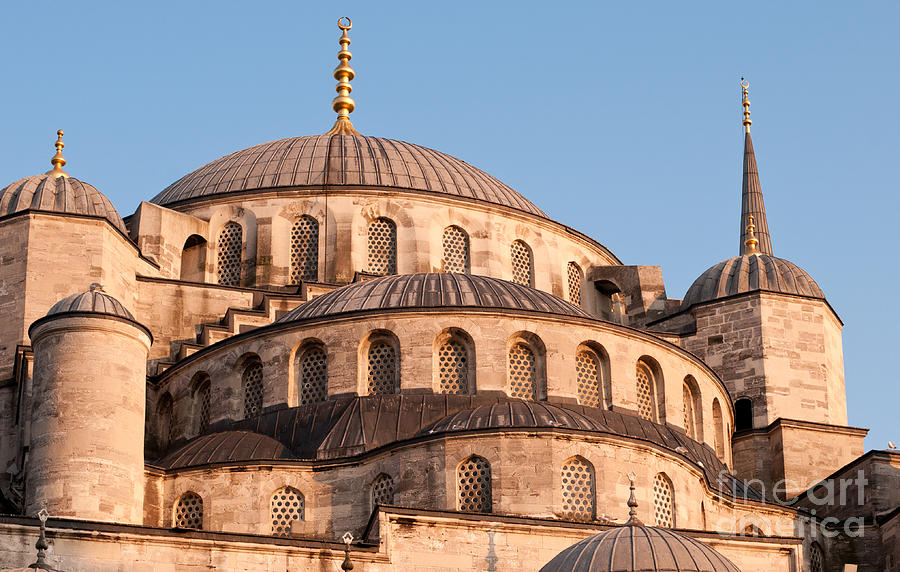 Istanbul Photograph - Blue Mosque Domes 09 by Rick Piper Photography
