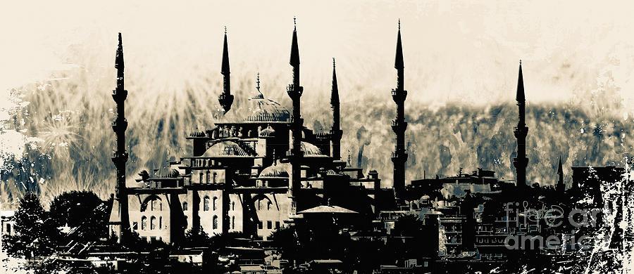 Blue Mosque Istanbul Turkey Digital Art by Ginette Callaway
