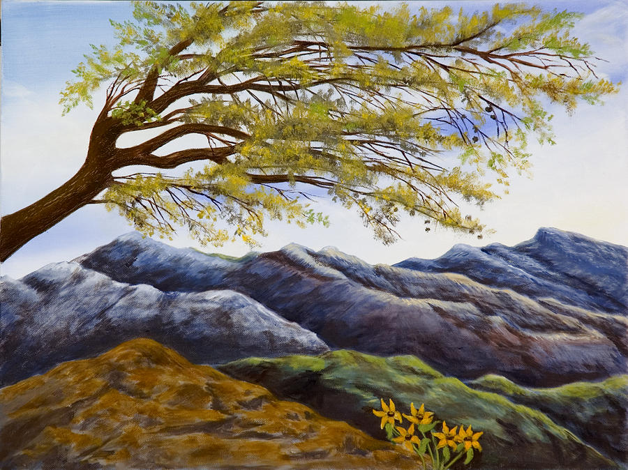 Posters Painting - Blue Mountains by Susan Culver