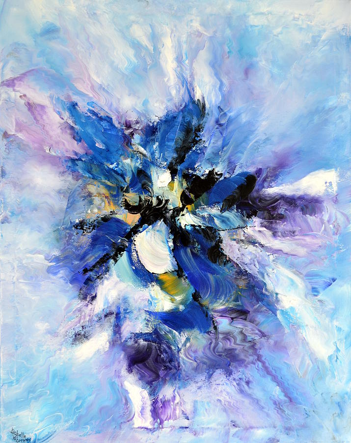 Abstract Painting - Blue Mystery by Isabelle Vobmann