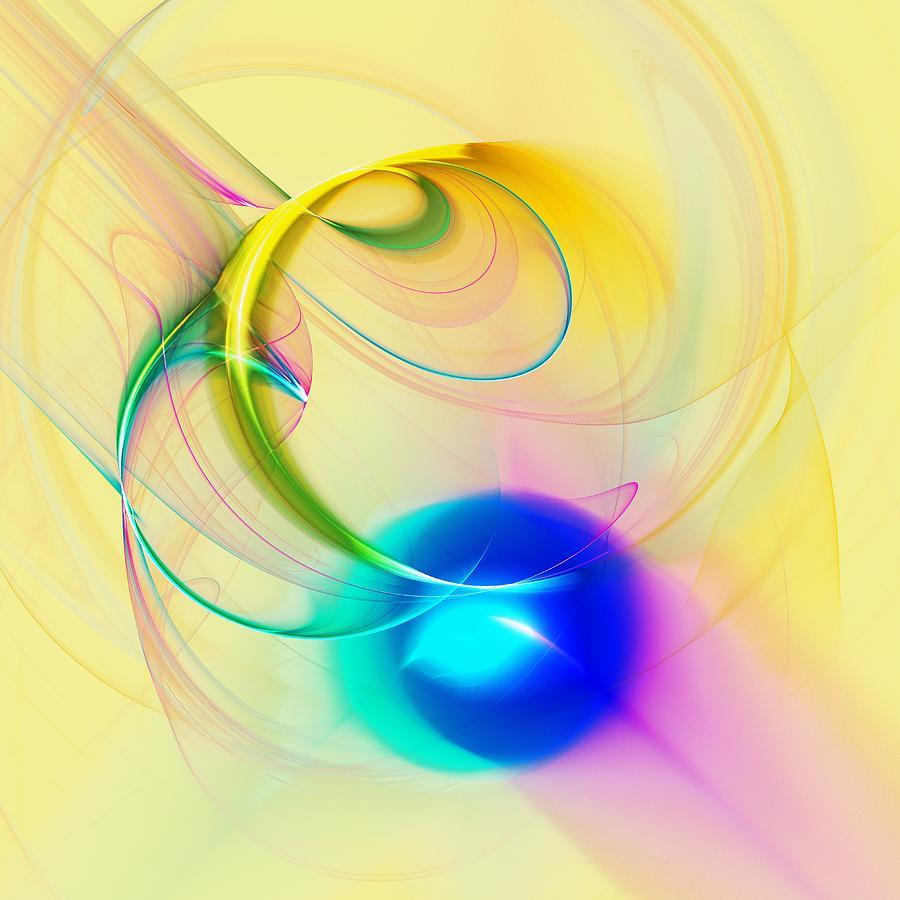 Malakhova Digital Art - Blue Note by Anastasiya Malakhova
