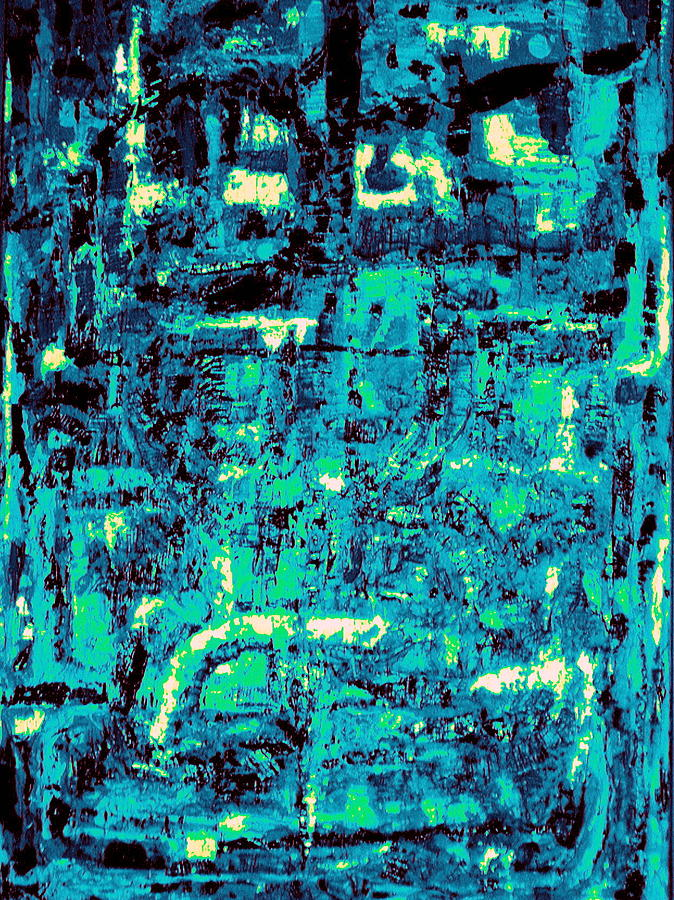 Abstract Painting - Blue Note by Andrea Vazquez-Davidson