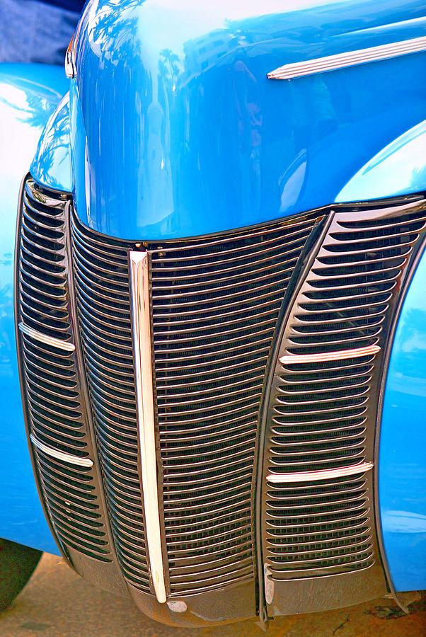 Car Photograph - Blue Oldie by Dieter  Lesche