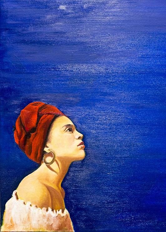 Blue Painting - Blue by Olinela
