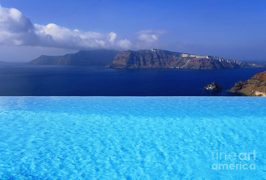 Santorini Photograph - Blue On Blue by Aiolos Greek Collections