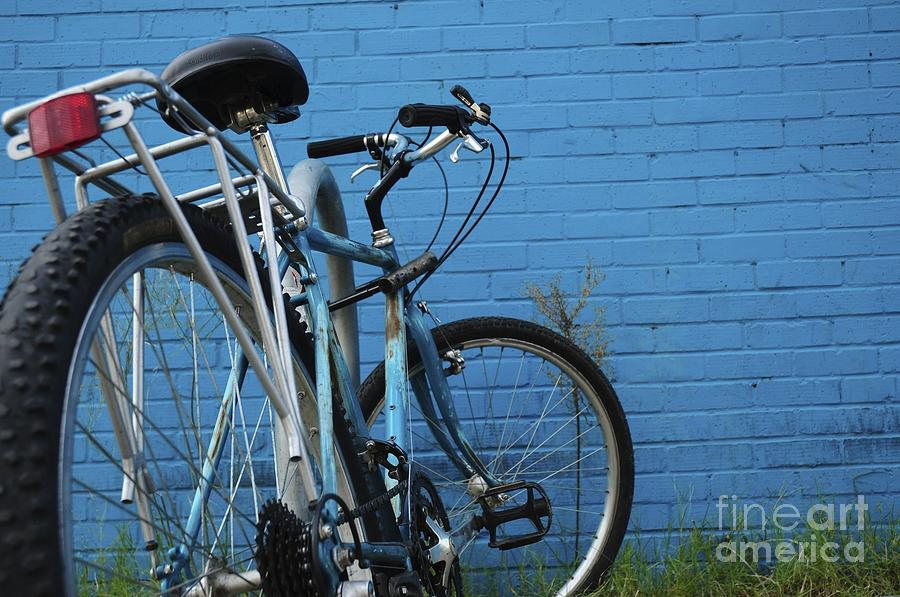Bicycle Photograph - Blue On Blue by Sherry Davis