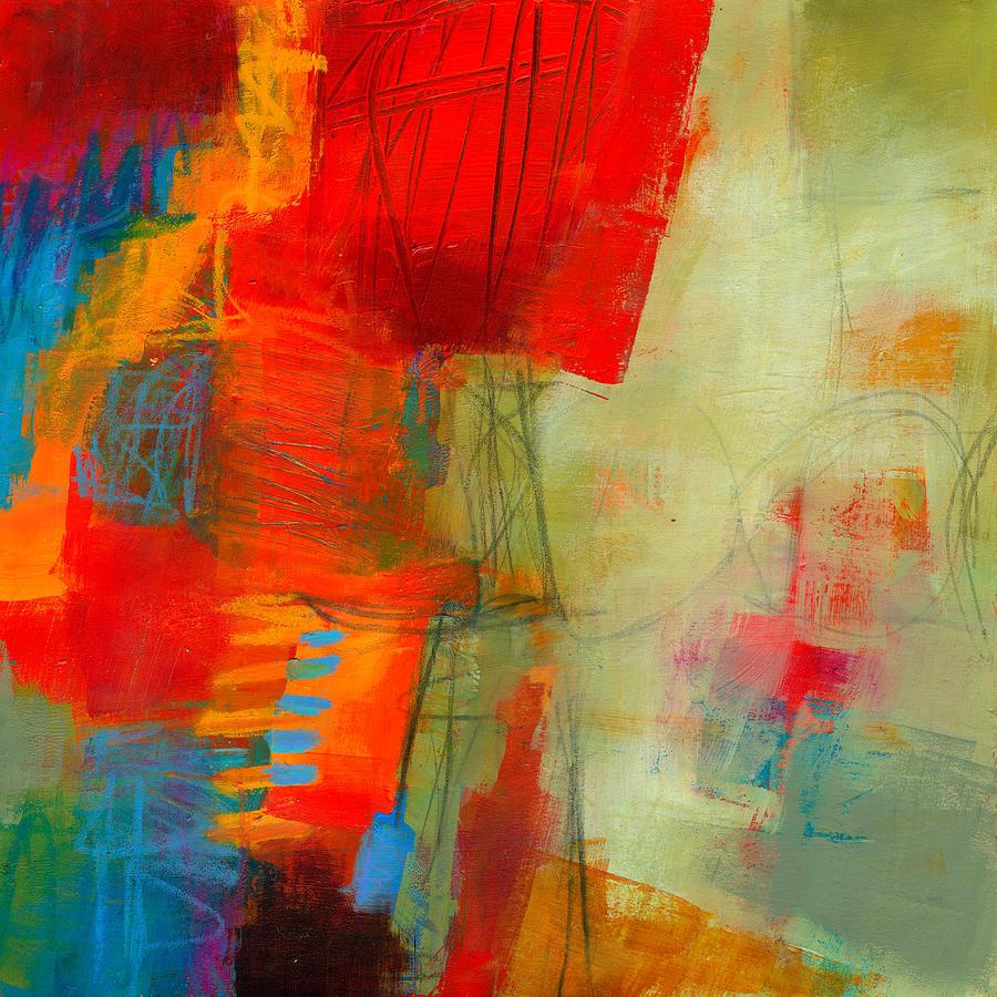 Acrylic Painting - Blue Orange 1 by Jane Davies