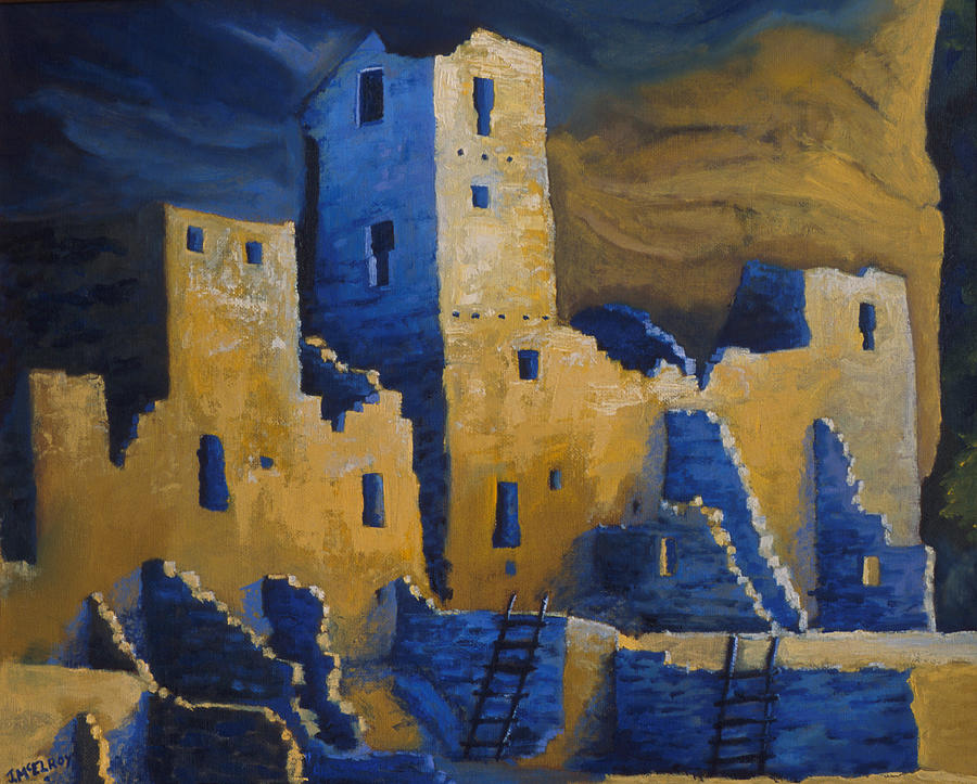 Mesa Painting - Blue Palace by Jerry McElroy