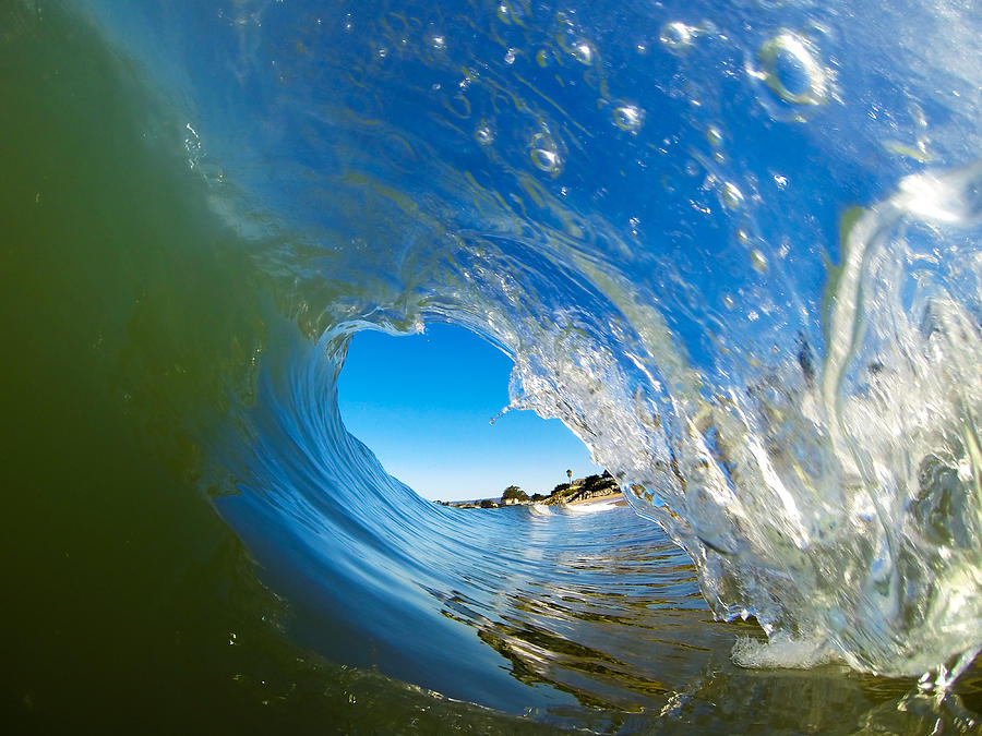 Wave Photograph - Blue Perfection by David Alexander