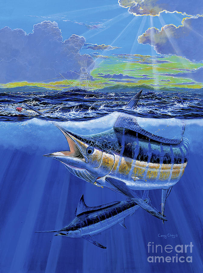 Blue Marlin Painting - Blue Pitcher Off00115 by Carey Chen